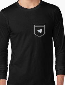 Telegram logo pocket shirt Long Sleeve T-Shirt