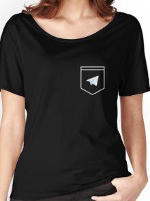 Telegram logo pocket shirt Women's Relaxed Fit T-Shirt