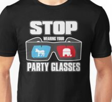 Stop Party Glasses - Democrats & Republicans Unisex T-Shirt