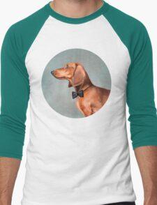 Mr. Dachshund portrait Men's Baseball ¾ T-Shirt