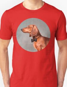 Mr. Dachshund portrait Unisex T-Shirt