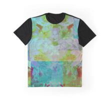 Blue, Lilac & Olive Mosaic Graphic T-Shirt