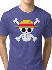 One Piece   Monkey D. Luffy Skull Tri-blend T-Shirt