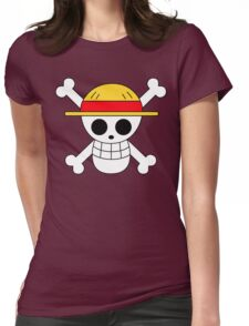 One Piece | Monkey D. Luffy Skull Womens Fitted T-Shirt