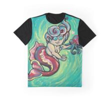 Mermaid and Octopus Graphic T-Shirt