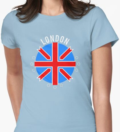 British Flag Womens Fitted T-Shirt