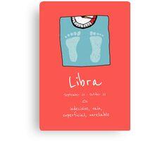 Star Signs: Libra Canvas Print