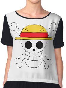 One Piece | Monkey D. Luffy Skull Chiffon Top