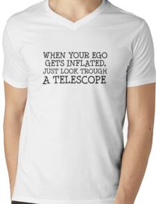 Space Universe Cool Quote Smart  Mens V-Neck T-Shirt