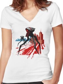 Tripod Women's Fitted V-Neck T-Shirt