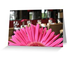 Restaurant Flower Greeting Card