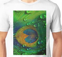 Drops on Peacock Unisex T-Shirt