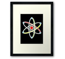 ATOM, ATOMIC, SMALL, Physics, Science, Neutrons, Protons, Electrons, Nuclear, Energy, Fission, Fusion  Framed Print