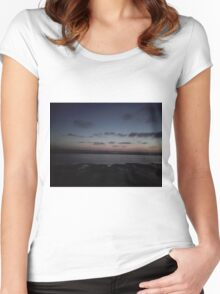 Beach Sunset Women's Fitted Scoop T-Shirt