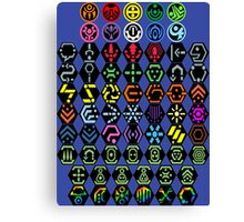 Phantasy Star Online - Icons Canvas Print