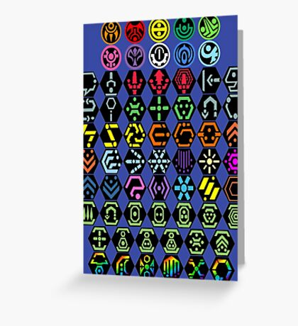Phantasy Star Online - Icons Greeting Card