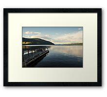 Loch Ness pier  Framed Print