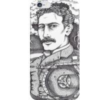 Tesla and His Bladeless Turbine iPhone Case/Skin