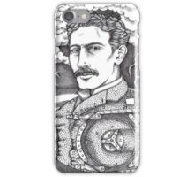 Tesla and His Bladeless Turbine iPhone Case/Skin