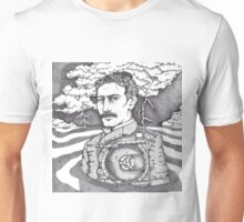 Tesla and His Bladeless Turbine Unisex T-Shirt