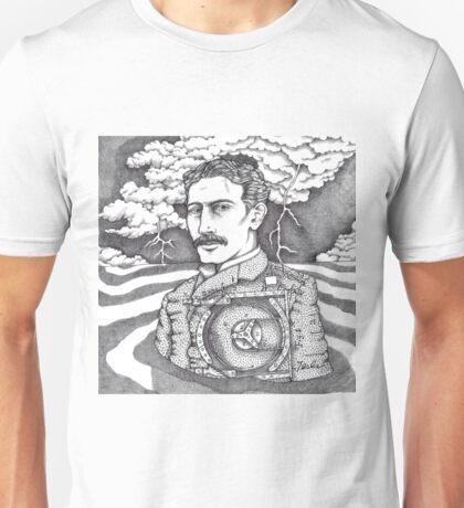 Tesla and His Bladeless Turbine Unisex T-Shirt