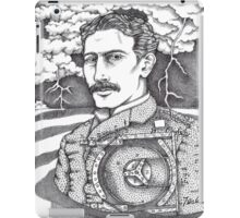 Tesla and His Bladeless Turbine iPad Case/Skin