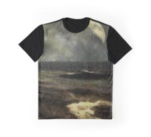 Silver Sliver over the Sea Graphic T-Shirt