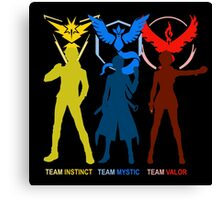 Pokemon Go - Team Mystic Team Valor Team Instinct Canvas Print