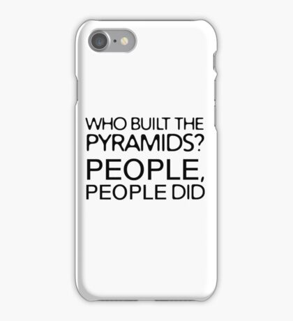 Funny Ironic Conspiracy Theory Nonsense  iPhone Case/Skin