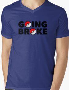 Going Broke Playing Pokemon GO Mens V-Neck T-Shirt