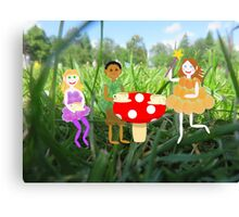 Fairy Toadstool Picnic Canvas Print