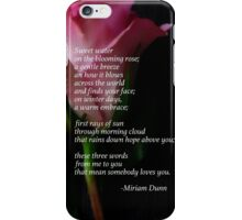 Words of Love in Pink iPhone Case/Skin