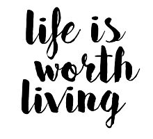 Life is Worth Living - Justin Bieber Photographic Print