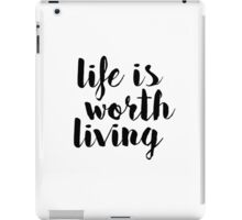 Life is Worth Living - Justin Bieber iPad Case/Skin
