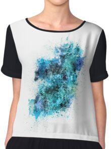 Ireland Map Paint Splashes Chiffon Top
