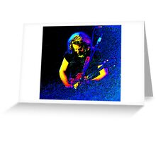 Jerry Garcia of the Grateful Dead Greeting Card