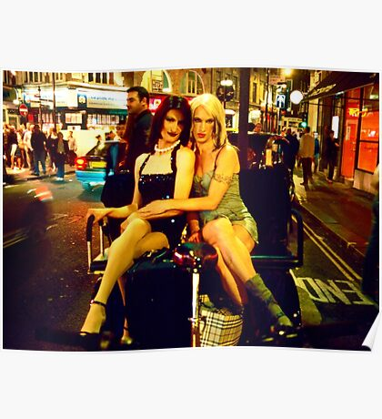 Transvestites, Wardour Street (London, Soho) Poster