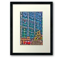 Building reflection Framed Print