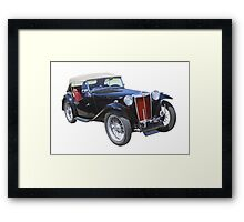 Black Mg Tc Antique Car Framed Print