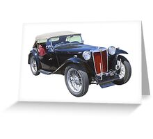 Black Mg Tc Antique Car Greeting Card