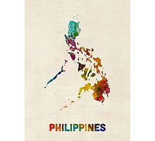 Philippines Watercolor Map Photographic Print