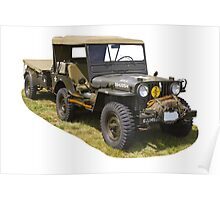 Willys World War Two Army Jeep Poster