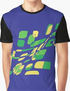 Blue and green abstract design Graphic T-Shirt