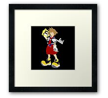 Kingdom Hearts-Sora Framed Print
