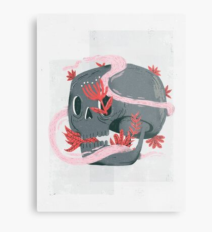 death and silence Metal Print