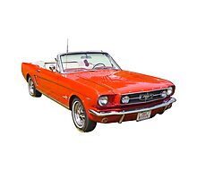 1965 Red Ford Mustang Convertible Photographic Print