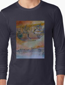 Felixstowe Seaplane over Grand Harbour Long Sleeve T-Shirt