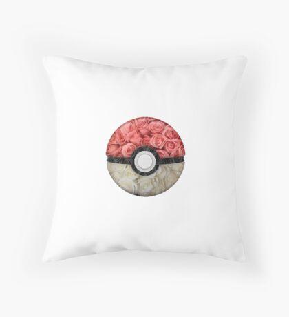 Floral Pokéball Throw Pillow