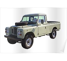 1971 Land Rover Pick up Truck Poster