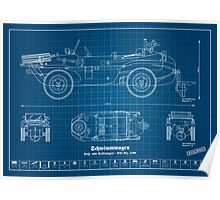 Kdf. 166 - German truck - Volkswagen - Schwimmwagen Poster
